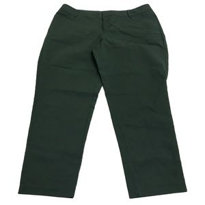 Eloquii Kady Fit Double Weave Cropped Pants Pine